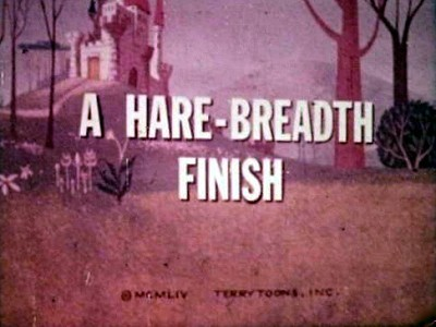 A Hare-Breadth Finish Title Card