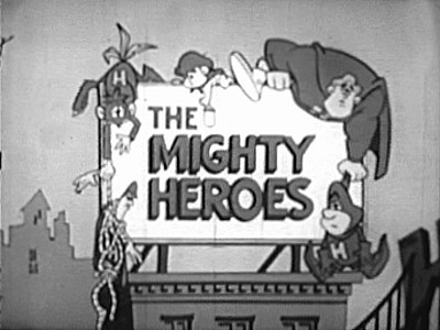 Mighty Heroes Television Series Title Card