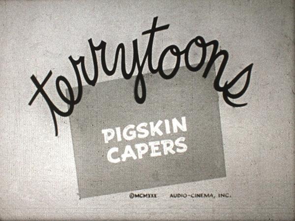 Pigskin Capers Title Card