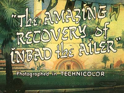 'The Amazing Recovery Of Inbad The Ailer' Title Card
