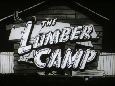 The Lumber Camp Re-Release Title Card