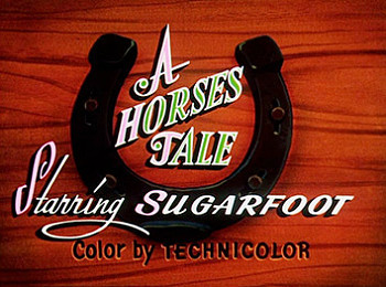 'A Horse's Tale' Alternate Title Card
