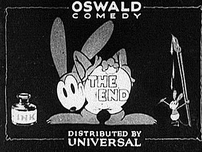 'Gold Dust Oswald' End Title Card