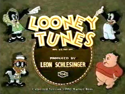 Colorized 1935 Looney Tunes Title Card