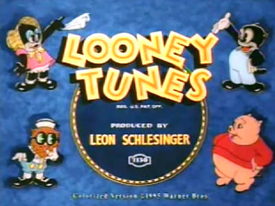Colorized Looney Tunes Title Card