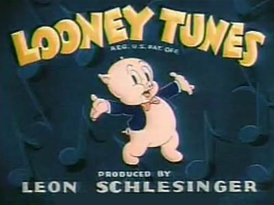 Porky Colorized Looney Tunes Title Card