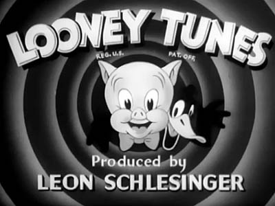 Black and White Looney Tunes Title