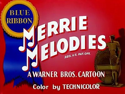 Merrie Melodies Blue Ribbon Title Card