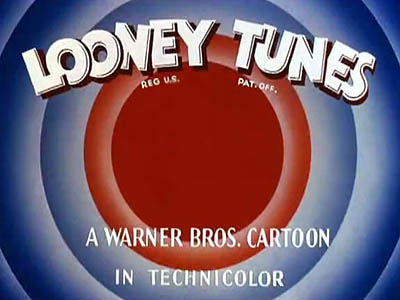 Looney Tunes Title Card. Some Looney Tunes from this season used the thinner Merrie Melodies rings for the opening title.