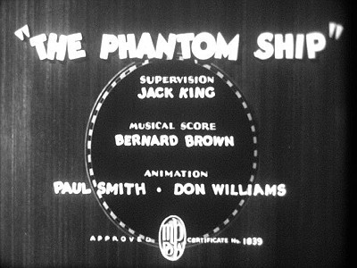 <i>The Phantom Ship</i> Title Card