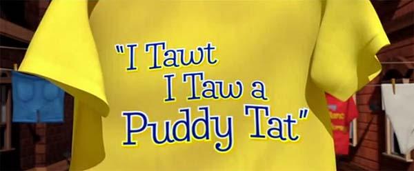 <i>I Tawt I Taw a Puddy Tat</i> Title Card
