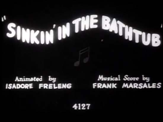 <i>Sinkin' In The Bathtub</i> Title Card