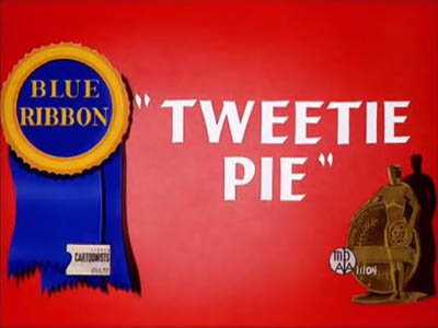 Tweetie Pie Blue Ribbon Title Card