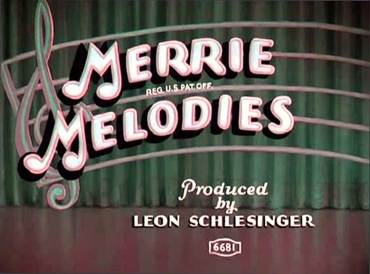 TechniColor Merrie Melodies Title Card