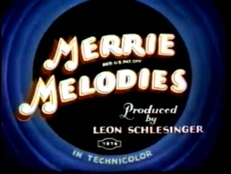 Clean Pastures Merrie Melodies Title Card