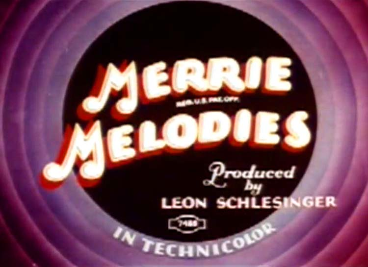 At Your Service Madame Merrie Melodies Title Card