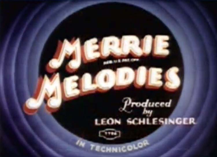 Streamlined Greta Green Merrie Melodies Title Card