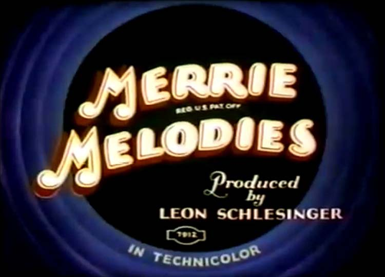 Uncle Tom's Bungalow Merrie Melodies Title Card
