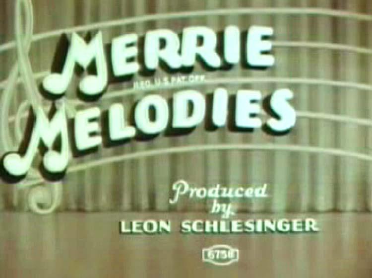 Along Flirtation Walk Merrie Melodies Title Card