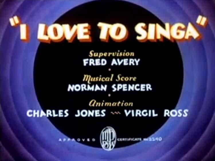 I Love To Singa Title Card