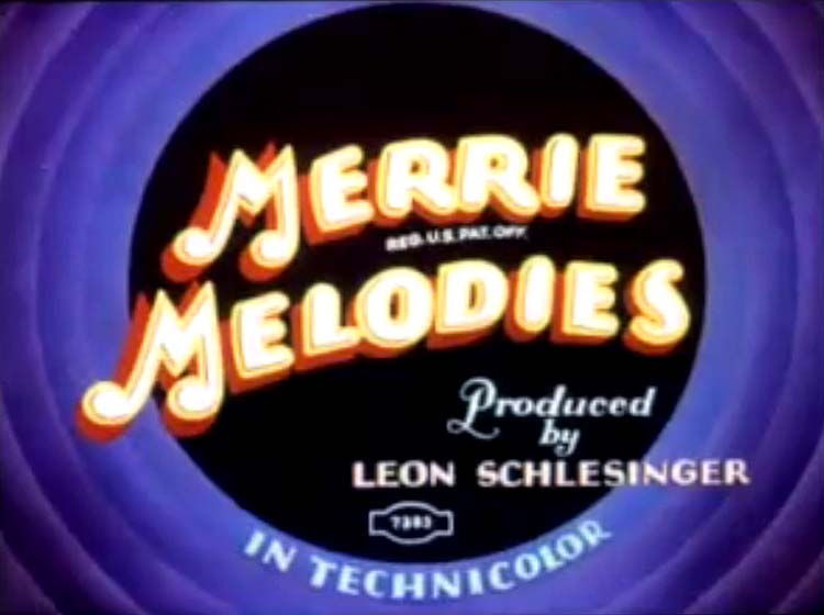 I Love To Singa Merrie Melodies Title Card