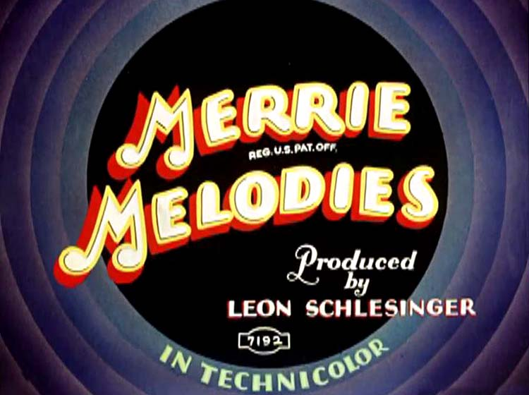 Page Miss Glory Merrie Melodies Title Card