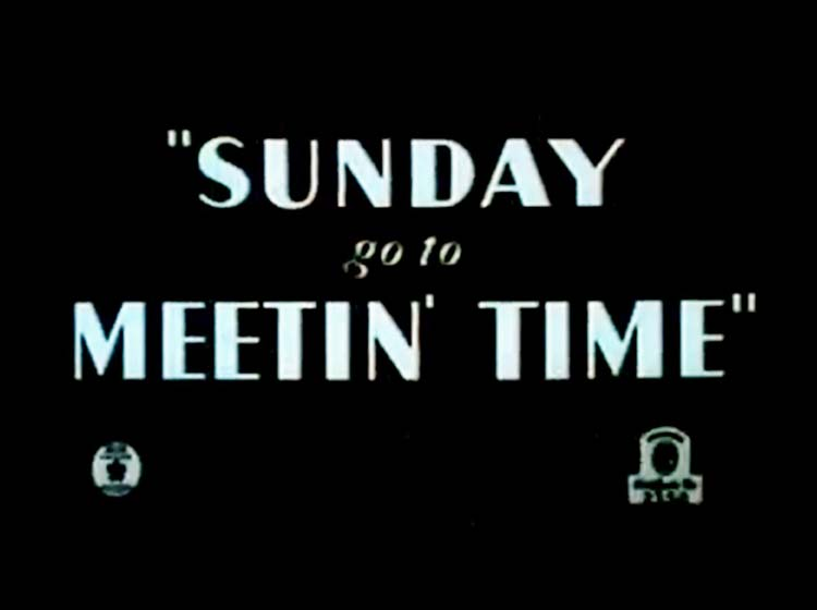 Sunday Go To Meetin Time Rerelease Title Card