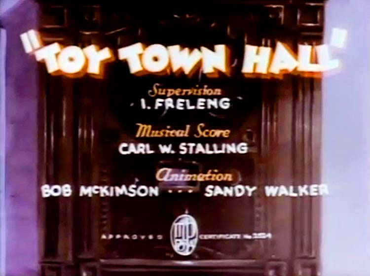 Toy Town Hall Title Card