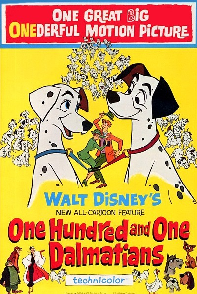 One Hundred And One Dalmatians Original Release Poster