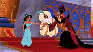 The blind Sultan does not see the plans of the evil Jafar.