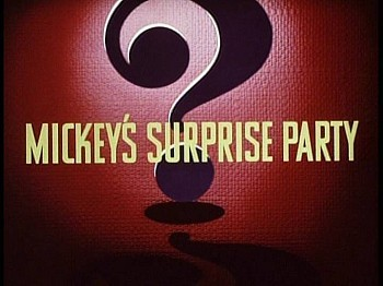 Mickey's Surprise Party Title Card