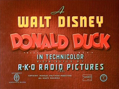 Donald Duck Series Title Card