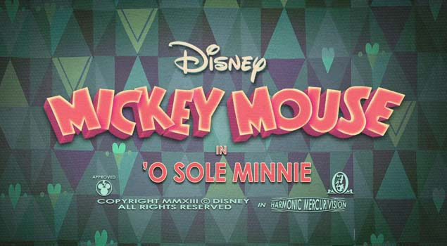 'O Sole Minnie Television Episode Title Card