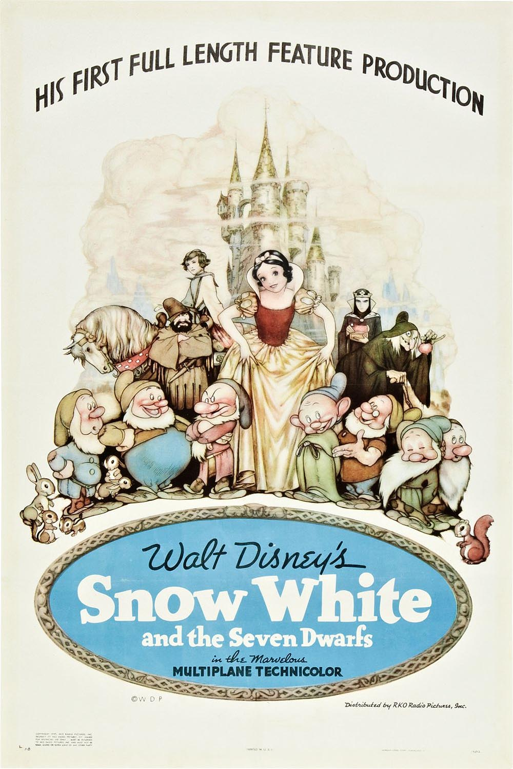 Snow White And The Seven Dwarfs Original Release Poster