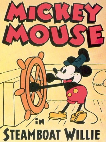 Steamboat Willie Release Poster Reproduction