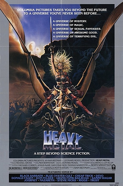heavy metal 1981 feature length theatrical animated film. Black Bedroom Furniture Sets. Home Design Ideas