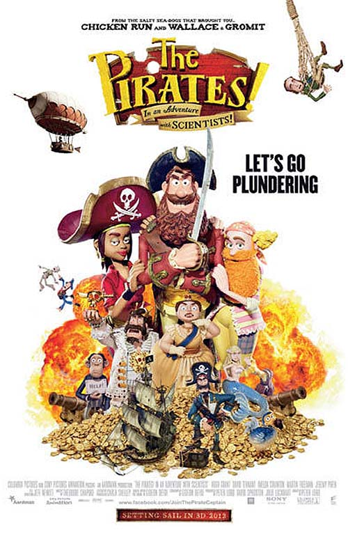 The Pirates! In An Adventure With Scientists UK Release Poster