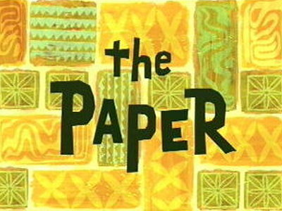 'The Paper Television Episode' Title Card