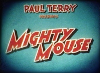 Mighty Mouse And The Two Barbers Original Series Title Card